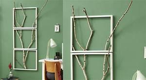 Branche De Bois Deco : d co murale en bois un cadre tendance prima ~ Teatrodelosmanantiales.com Idées de Décoration
