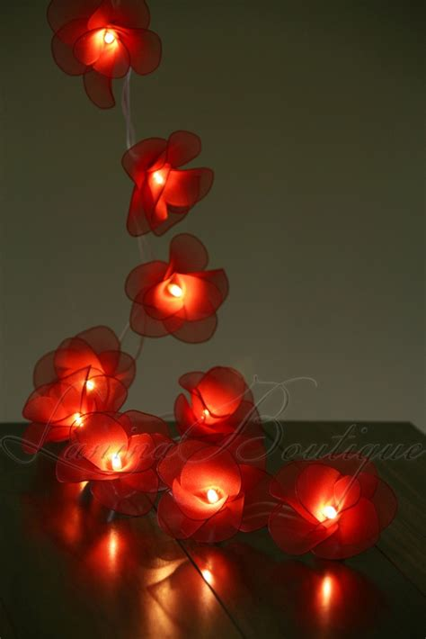 20 flower battery operated led string