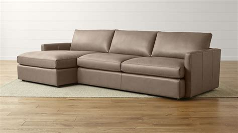 sectional sofa left arm chaise lounge ii left arm chaise sectional sofa crate and barrel