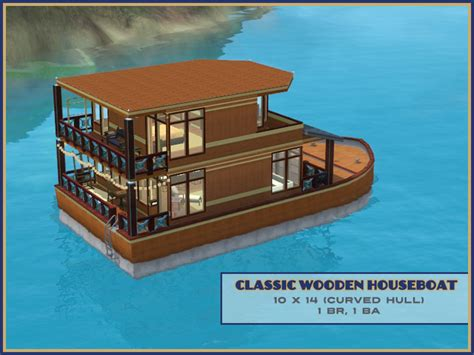 Houseboats Sims 3 by Mod The Sims Classic Wooden Houseboat