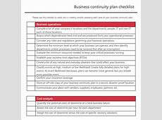 Business Continuity Plan Template Documents and PDFs
