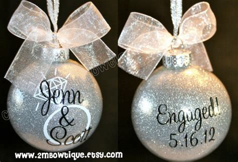 great engagement gift idea christmas ornament for
