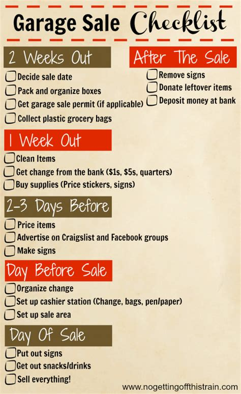 How To Price For A Garage Sale by 24 Tips For A Successful Garage Sale No Getting This