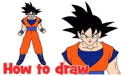 draw goku  dragon ball  full body step  step