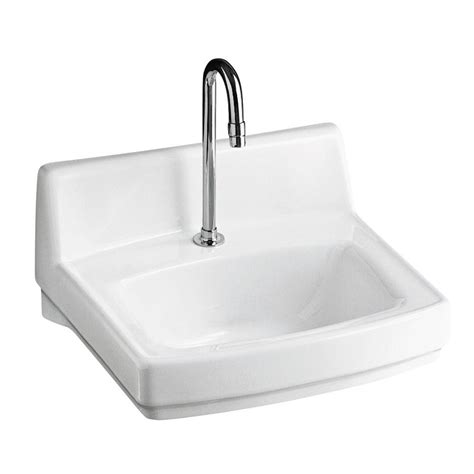 home depot wall mount sink kohler greenwich wall mount vitreous china bathroom sink