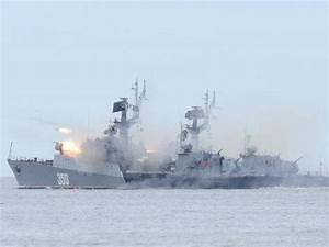 Russian warships fire cruise missiles targeting Isis in ...