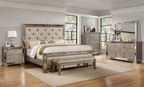 luciana antique mirror bedroom set las vegas furniture