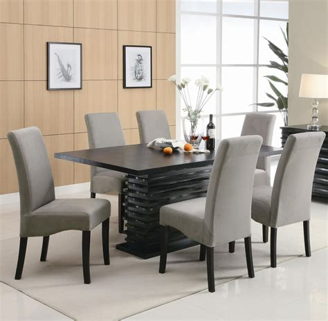 black dining room table and chairs coaster stanton 102061 102062 black wood dining table set
