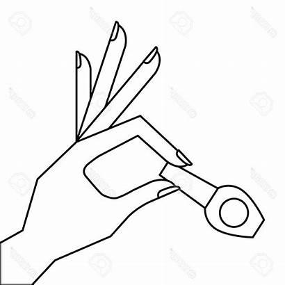 Nail Polish Hand Outline Clipart Female Nails