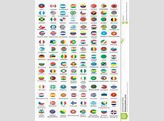 Bandiere nazionali illustrazione vettoriale Illustrazione