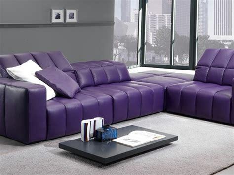 canap cuir violet canapé cuir violet