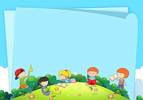 Vector Cartoon Children's Education Background Panels