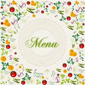 Vintage healthy food menu background — Stock Vector ...