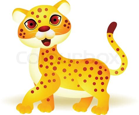 funny cheetah cartoon stock vector colourbox