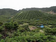 Inhabited Volcanic Island of Aogashima Japan