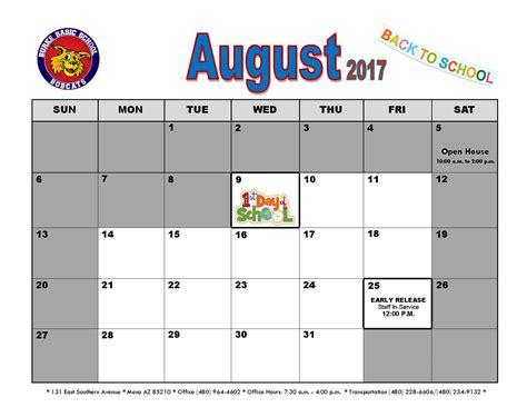 august newsletter calendar burke basic school