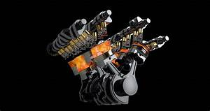 Rotating V8 Engine Animation With Stock Footage Video  100