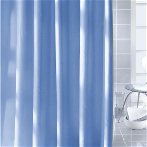 caravelle fabric shower curtains solid white blue and