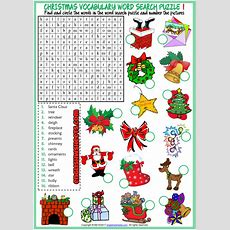Christmas Word Search Puzzle Esl Printable Worksheets  Esl Christmas  Christmas Word Search