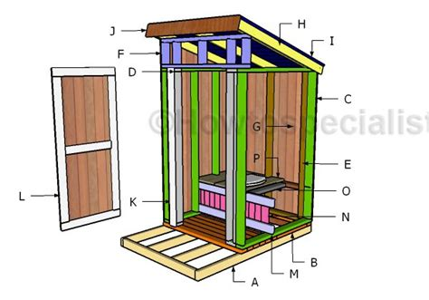 outhouse plans howtospecialist   build step