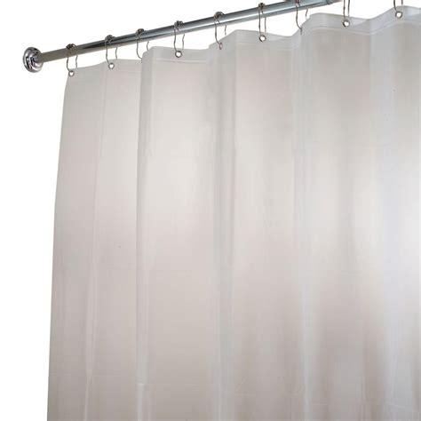 interdesign wide shower curtain liner in clear