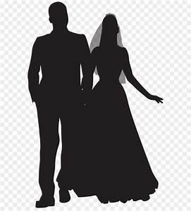 Wedding couple Clip art - Wedding Couple PNG Silhouette ...