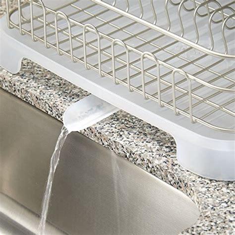 interdesign metro aluminum dish drainer  swivel spout
