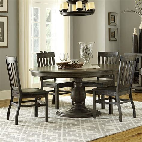 casual dining room sets dining table modern round dining room set with brown