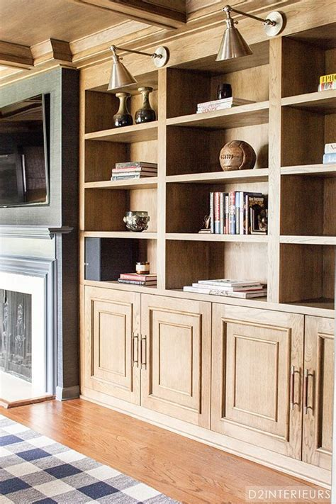 Great Natural Wood Bookcases And Library Lights Family