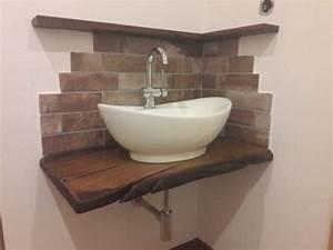 Waschtischplatte Holz Massiv : waschtisch waschtischplatte massiv holz eiche ge lt in niedersachsen bispingen badezimmer ~ Yasmunasinghe.com Haus und Dekorationen