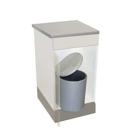 poubelle de placard cuisine poubelle cuisine pivotante 1 bac 13 litres gris