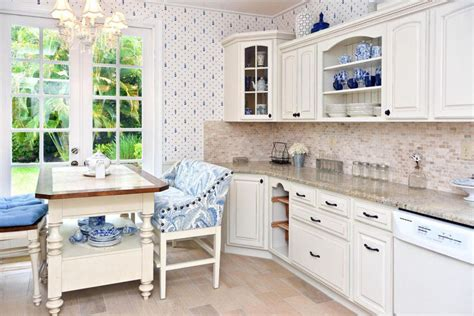 kitchen table and island combinations 26 gorgeous white country kitchens pictures designing idea