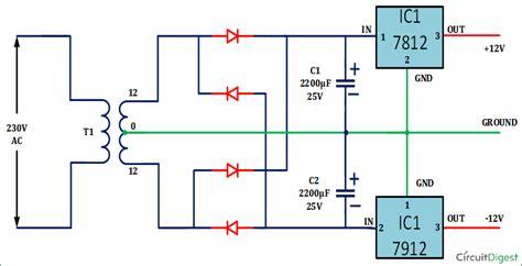 Dual Power Supply Circuit Diagram