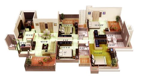 4 Bedroom Apartment/House Plans : 4 Bedroom Apartment/house Plans