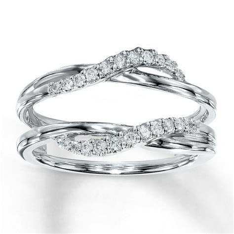 white gold  ct solitaire enhancer diamonds ring