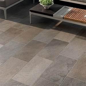 Carrelage Extérieur Terrasse : carrelage ext rieur effet pierre pour terrasse 30x30 grey ~ Voncanada.com Idées de Décoration
