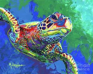 Giant Sea Turtle Painting by Maria Arango