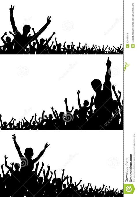 crowd silhouettes stock  image