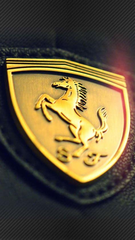 Its history traces back to 1940 when enzo ferrari took over the prancing horse. Ferrari Gold Batch Leather Wallpaper 1280 x 720 SGN2   Ferrari logo, Ferrari, Car wallpapers