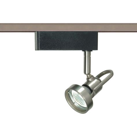 glomar 1 light mr16 12 volt brushed nickel cast ring track