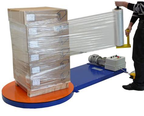 turntable stretch wrapper  series ferplast manual pallet stretch film