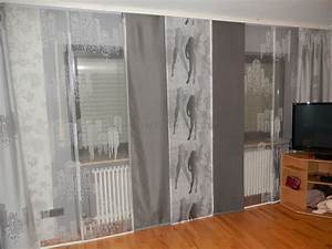 Bonprix Katalog Gardinen : moderne wei graue schiebegardine f rs wohnzimmer mit gro stadtmotiven ~ Indierocktalk.com Haus und Dekorationen