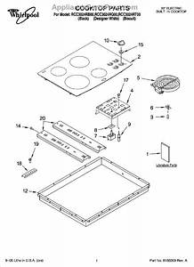 Parts For Whirlpool Rcc3024rq00  Cooktop Parts  Optional