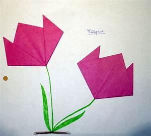 Blumen Basteln Fensterdeko : tulpen falten kinderspiele papier falten pinterest tulpe falten basteln und tulpen ~ Markanthonyermac.com Haus und Dekorationen
