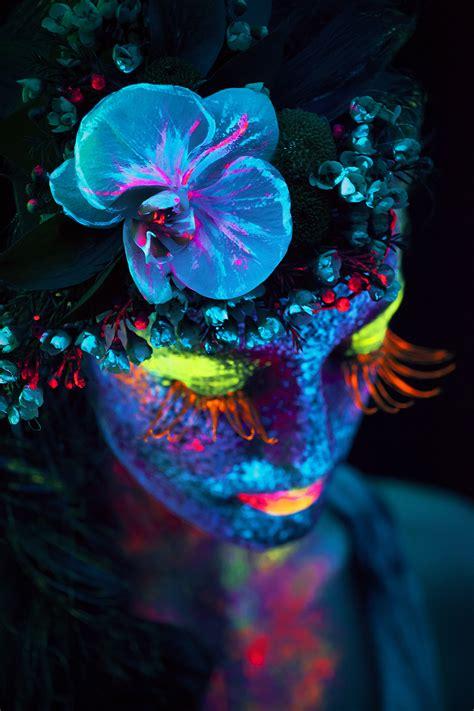 enter  surreal world  black light photography
