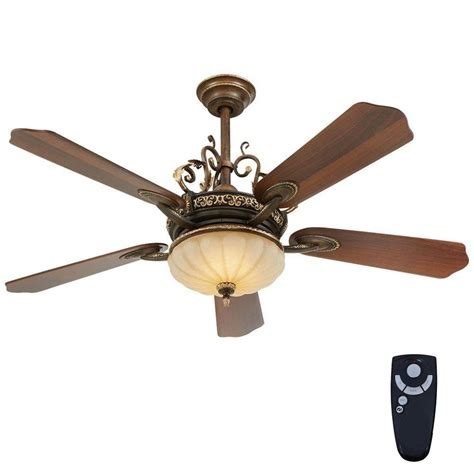 integrated led ceiling fan home decorators collection chateau deville 52 in