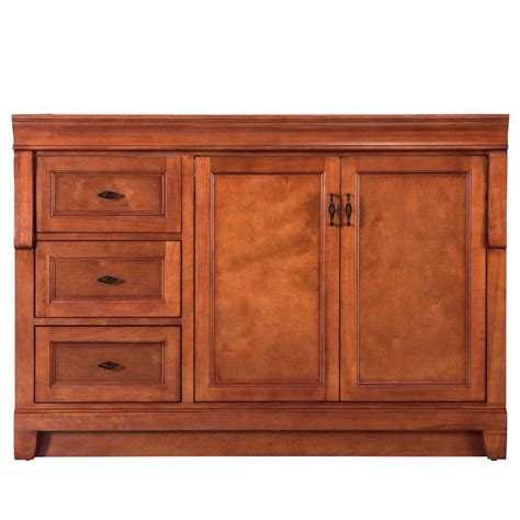 48 inch bathroom vanity right side sink home decorators collection naples 48 in w vanity cabinet