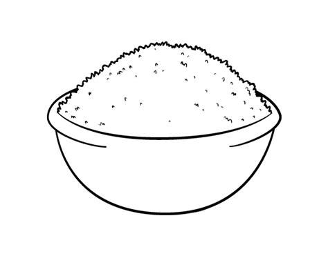 rice dish coloring page coloringcrewcom