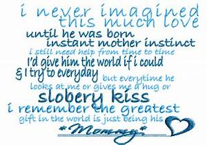 Mommy And Baby ... Baby Boy Life Quotes