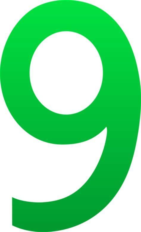 The Number Nine  Free Clip Art